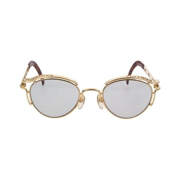 VINTAGE JEAN PAUL GAULTIER 56-5102 SUNGLASSES SOLD ❤ liked on Polyvore featuring accessories, eyewear, sunglasses, glasses, fillers, vintage eyewear, jean paul gaultier eyewear, jean paul gaultier glasses, vintage glasses and jean paul gaultier sunglasses