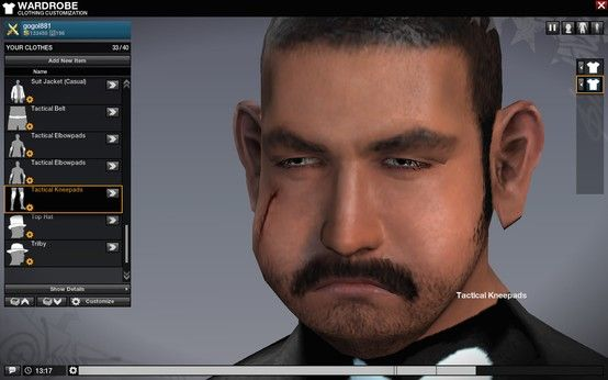 Gogol's epic face in APB after a patch gone wrong