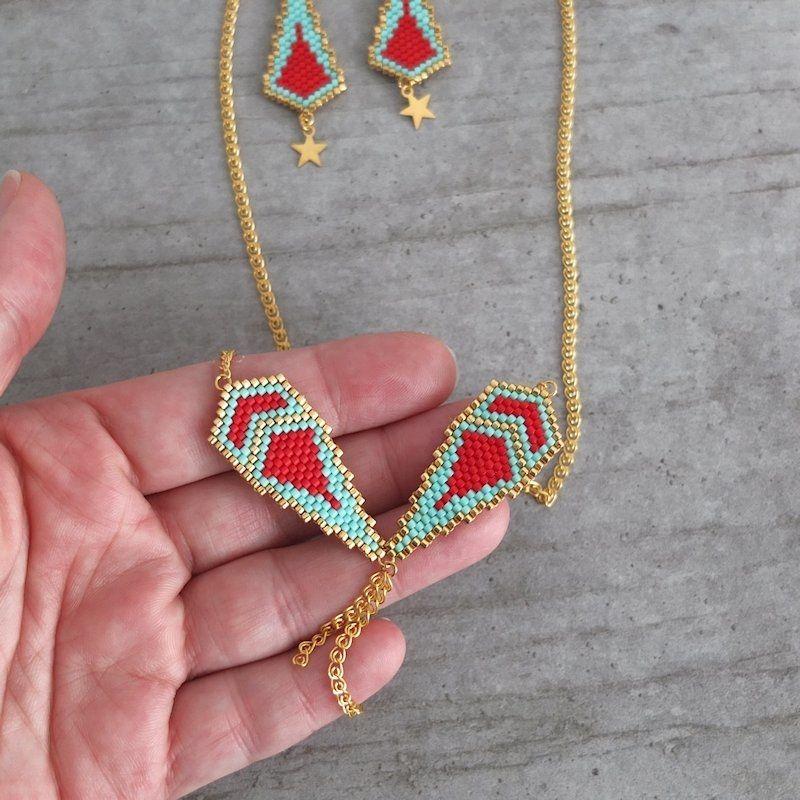 Le produit Collier motif Naos en perles de verre japonaises Miuki est vendu par My-French-Touch dans notre boutique Tictail.  Tictail vous permet de créer gratuitement en ligne un shop de toute beauté sur tictail.com