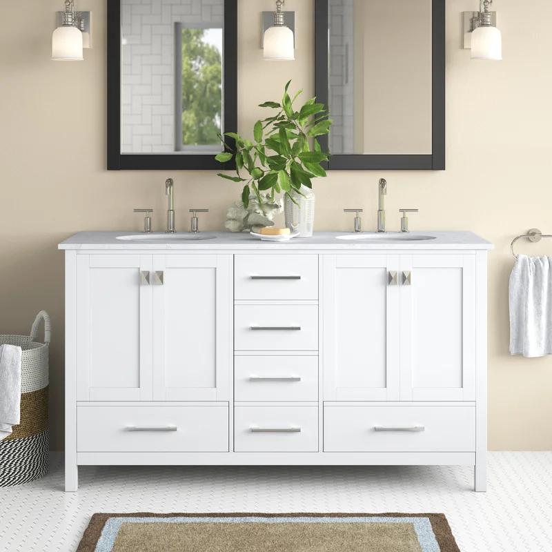 Broadview 60 Double Bathroom Vanity, 65 Wide Bathroom Vanity