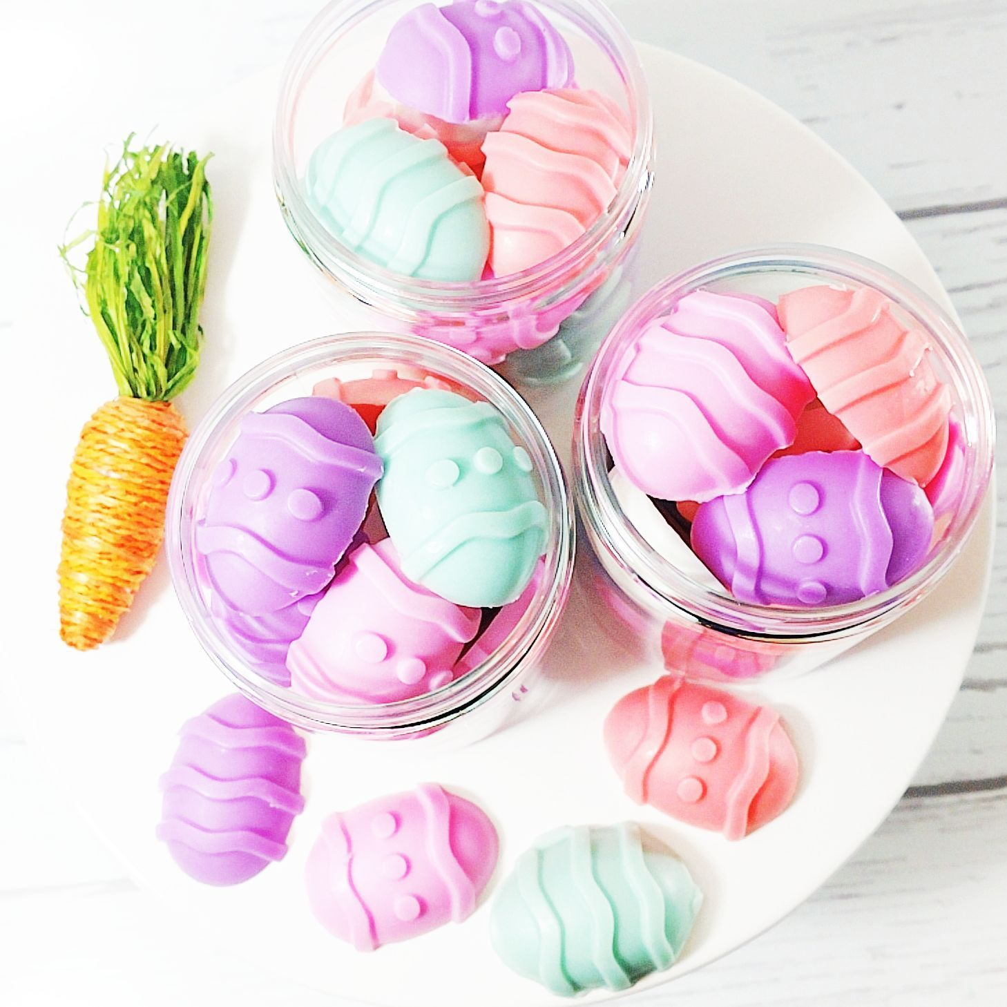 Easter egg soaps easter support small business and products adorable mini glycerin easter egg soaps in the scent of tulips brand new to our negle Image collections