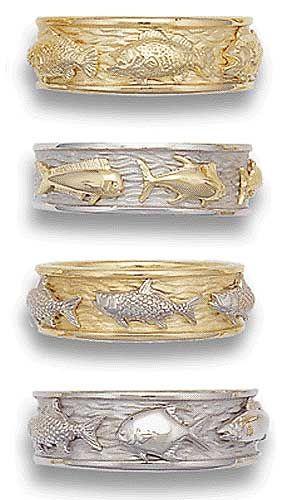 Design Your Own Three Fish Wedding Ring Fishing Wedding Wedding Rings Fishing Ring