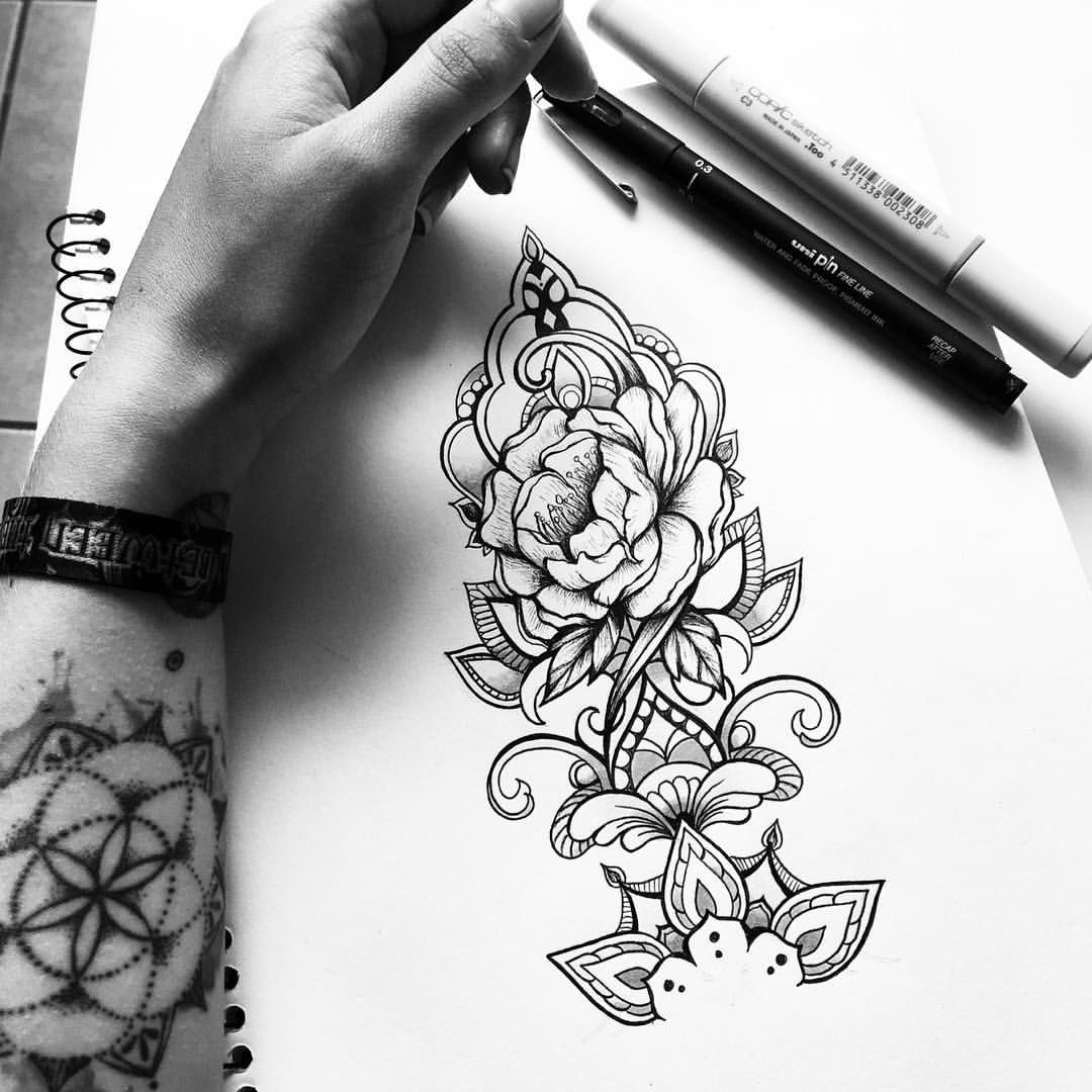 Back on track new forearm tattoo commission freehand for Forearm tattoo sketches