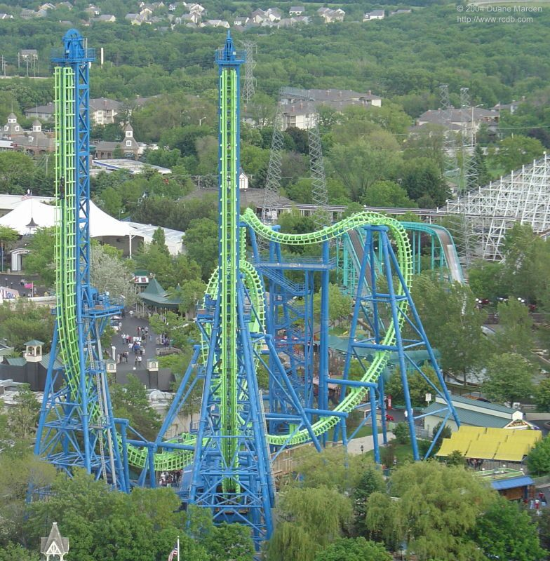 Deja Vu Six Flags Great America Gurnee Illinois Usa R I P 2007 Roller Coaster Ride Scary Roller Coasters Crazy Roller Coaster