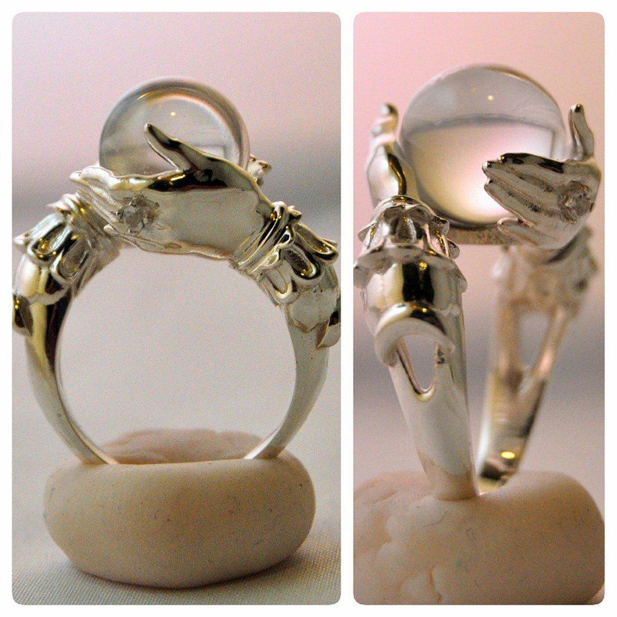 d91d9d3459c6 The Oracle - sterling ring and clear quartz sphere by kerinewton on ...