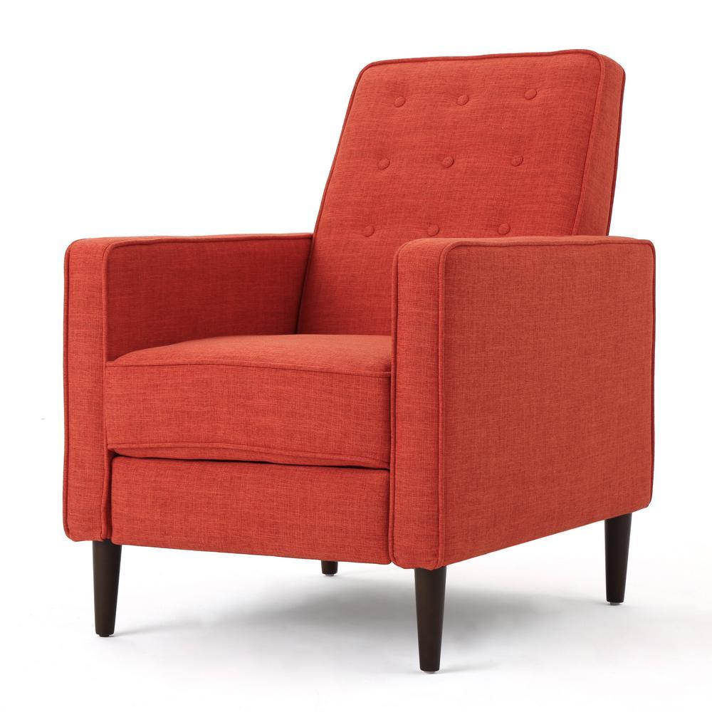 Noble House Deborah Muted Orange Fabric Mid Century Modern ...