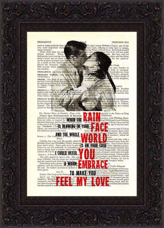 To Make You Feel My Love Song Lyric Print Lyric Prints Love Songs Lyrics