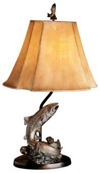 Vintage Verandah Trout Table Lamp | Bass Pro Shops $80 | Boy's ... Kreative Einrichtungsideen Vintage Veranda