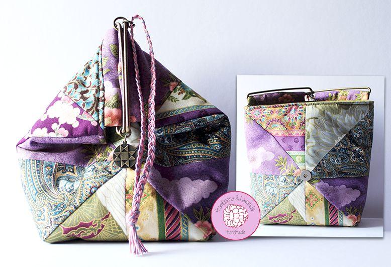patchwork Handbags boquilla japonés amp;L bolso F mano handmade 0tqwwxaU
