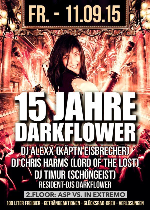 11.09.2015 – 15 Jahre DarkFlower  www.darkflower.de