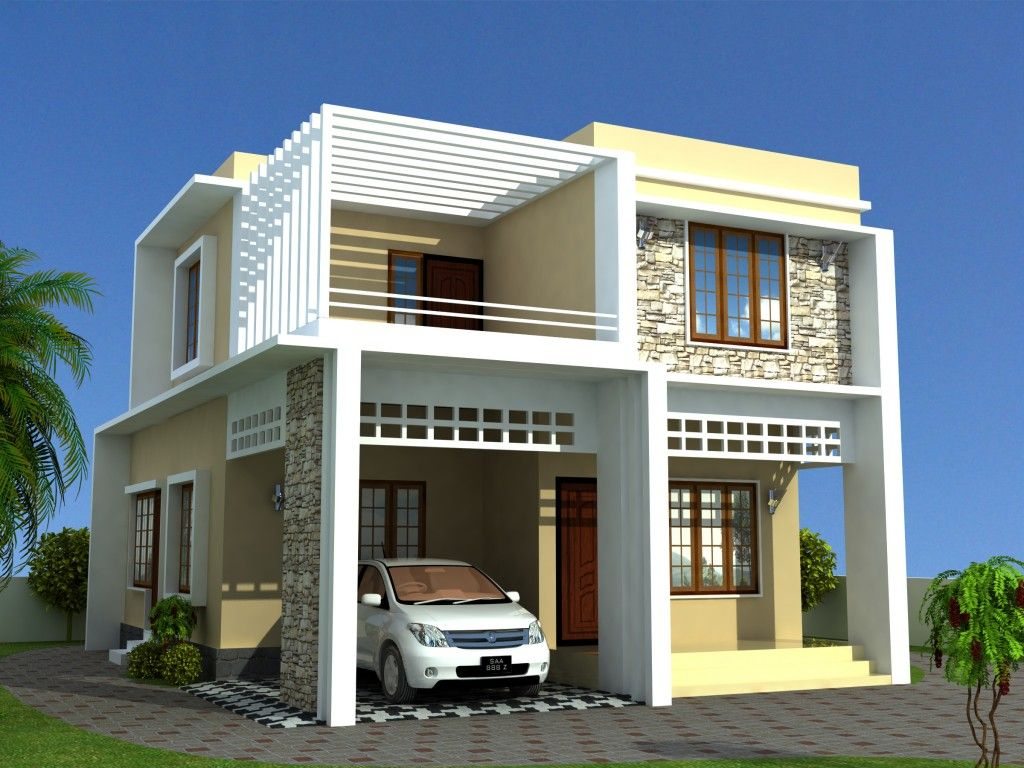 Kerala model home plans presents contemporary model for Simple house elevation models