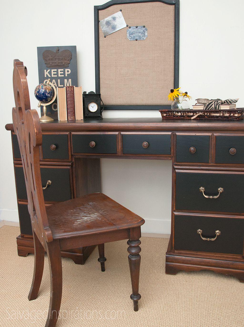 15 id es sympas pour relooker un vieux bureau bureau meubles et bricolage d co. Black Bedroom Furniture Sets. Home Design Ideas
