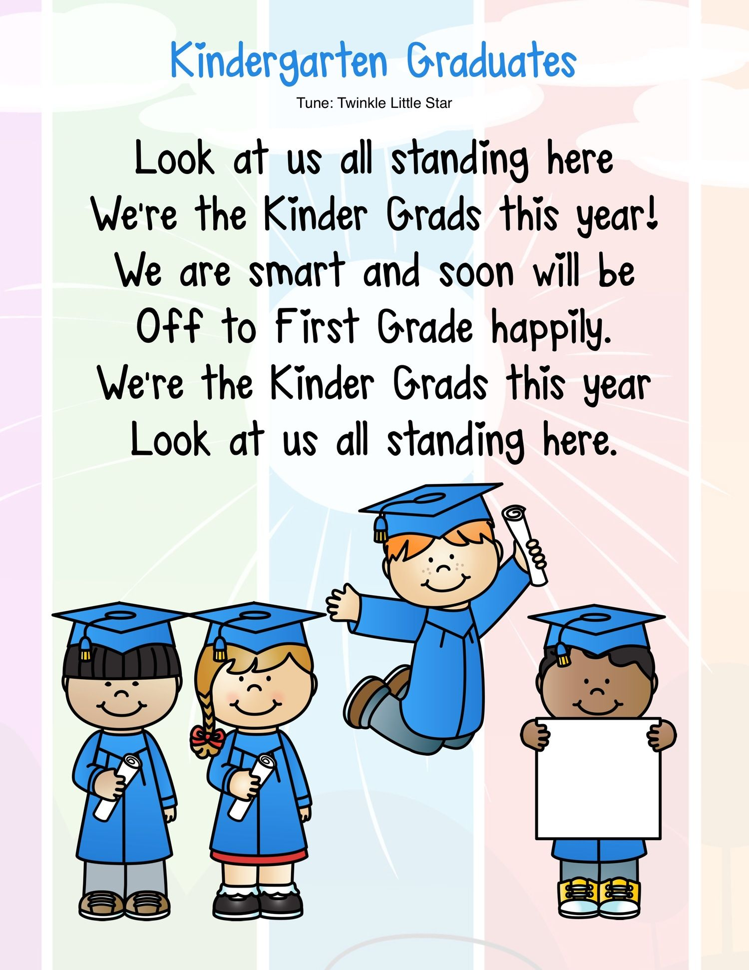 Kindergarten Graduation Or End Of The Year Program Songs