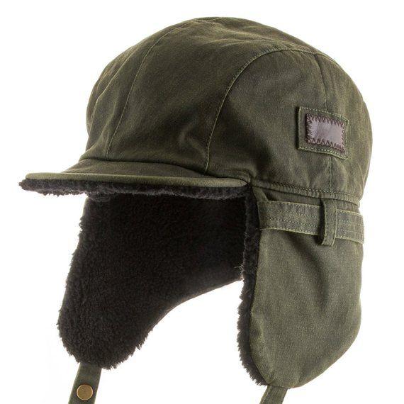 64ede585cae Best Pilot Trooper Aviator Cap Faux Leather Hat Ushanka Trapper in ...
