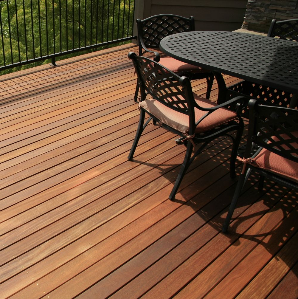 Hardwood Deck with Patio Set on Second