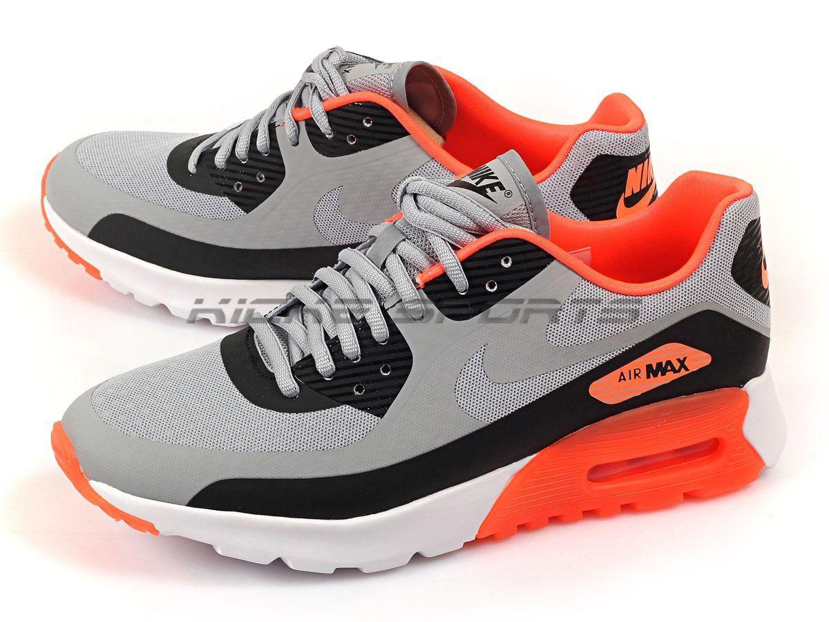 Nike Air Max 90 Ultra BR Wolf Grey Hyper Orange Sneaker
