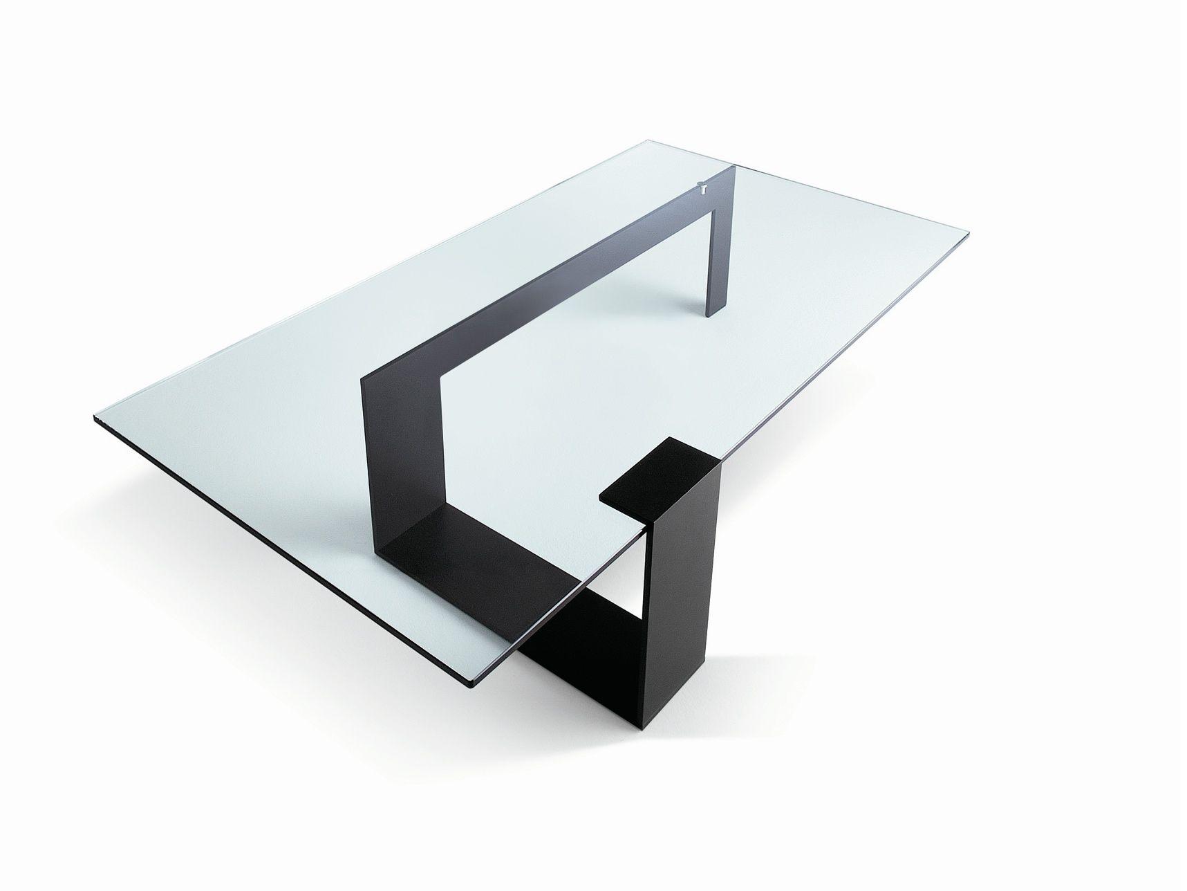 Table Basse Rectangulaire En Verre Trempe Longueur 110 Cm Cristal