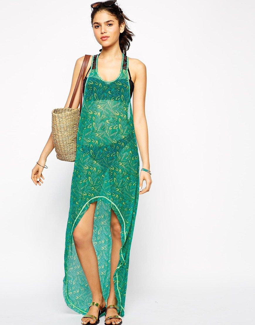 Image 4 ofMaaji Darling Sparrow Asymmetric Hem Beach Dress