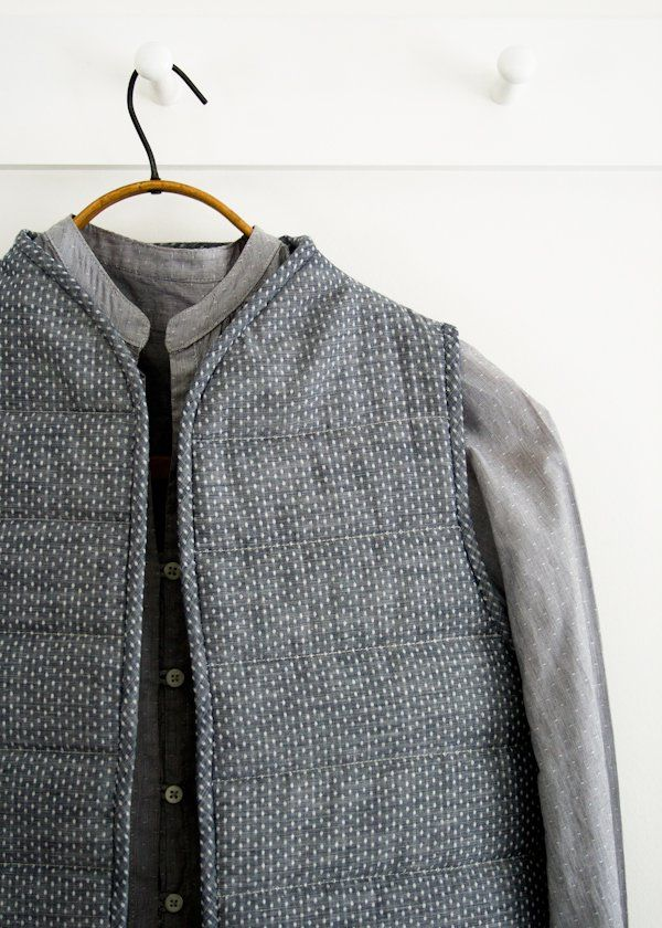Quilted Vest | {A needle pulling thread} | Quilted vest