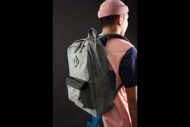 Heritage Backpack in Raven Crosshatch//Black NWT Free Ship Herschel Supply Co