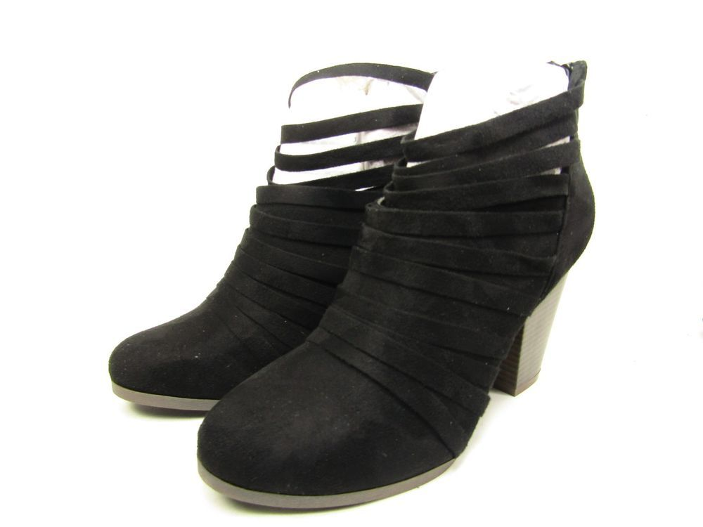 d1bbc3c5bfb4 Journee Collection Selena Strappy Ankle Womens Booties Black Size 8   JourneeCollection  Booties