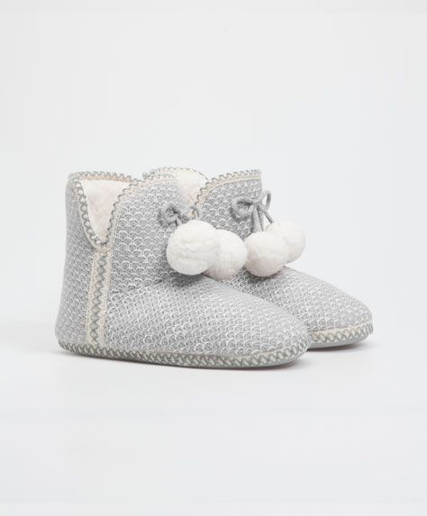 112f9b103d Wool booties with tribal ribbon   Slippers   Cute slippers, Slipper ...