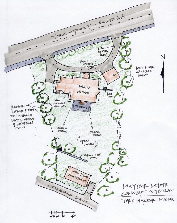 I just like this Site Plan drawing.