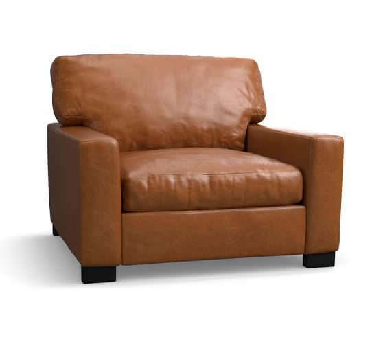 Turner Square Arm Leather Armchair Leather Armchair Leather