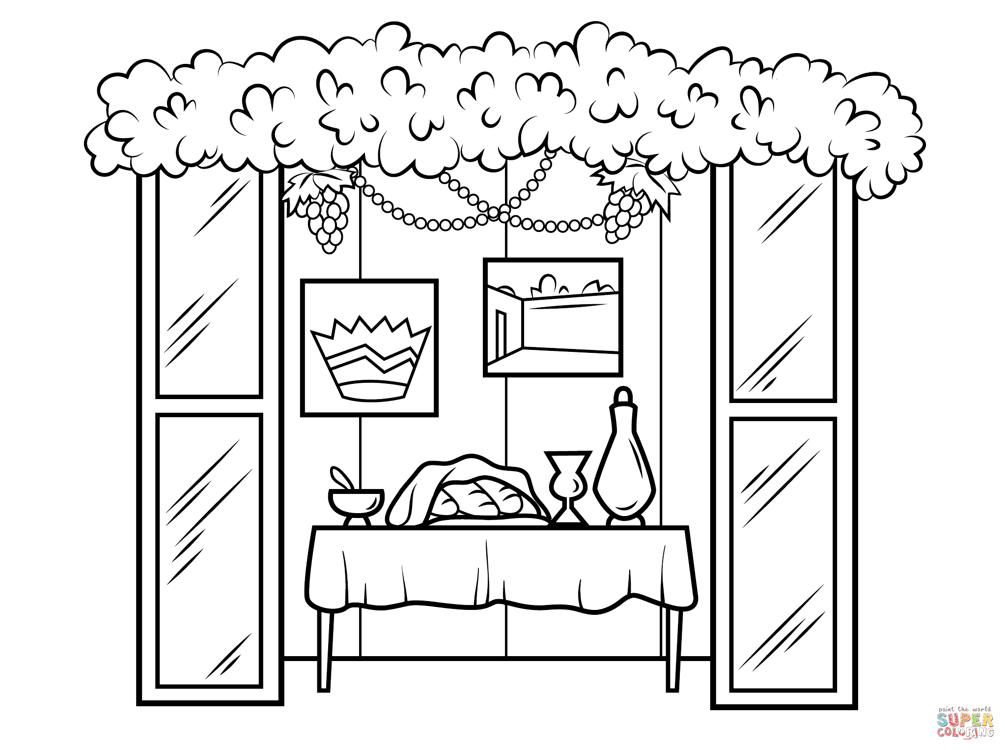 Sukkah For Sukkot Coloring Page From Category Select 27278 Printable Crafts Of Cartoons Nature Animals Bible And Many More Jewish