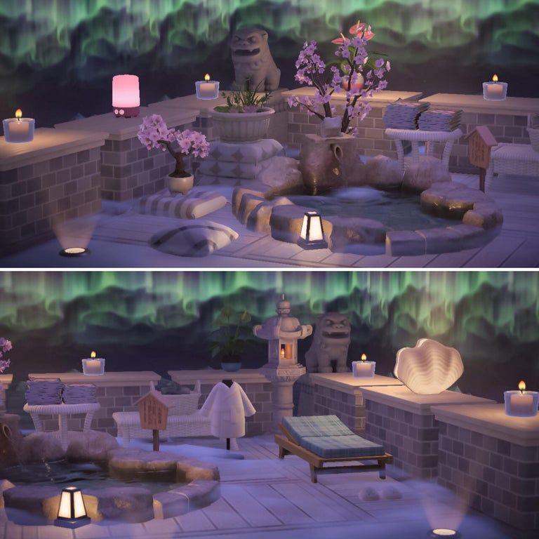 An outdoor spa.