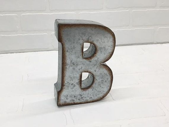 Small Galvanized Metal Letters Metal Letter B Small Metal Lettersgalvanizedtheshabbystore