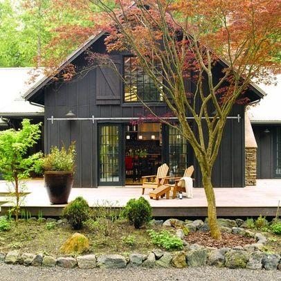 Pole Barn Home Design Ideas Pictures Remodel And Decor Black House Exterior Barn House Design Farmhouse Exterior