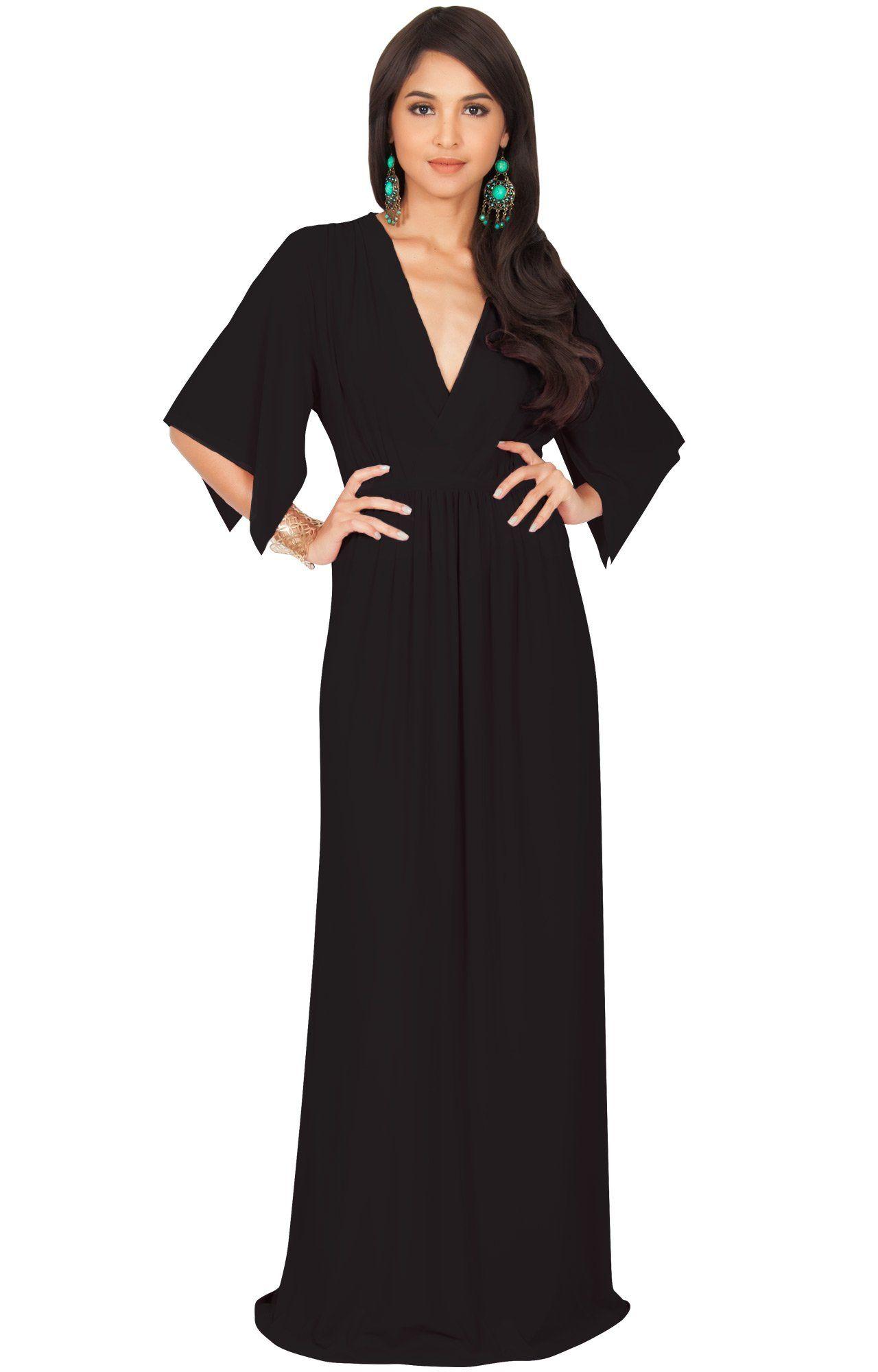 dba136a43ff Maternity Outfits - comfortable maternity maxi dress   KOH KOH Womens Long  Kaftan Caftan Short Sleeve