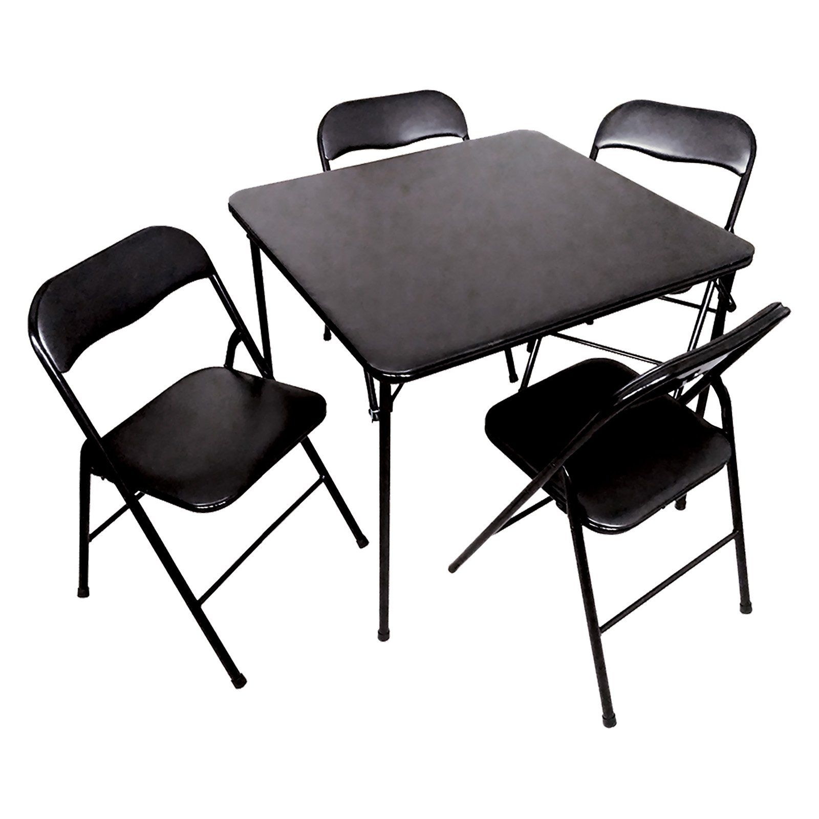Pdg 5 Piece Folding Card Table Set Card Table Chairs Folding