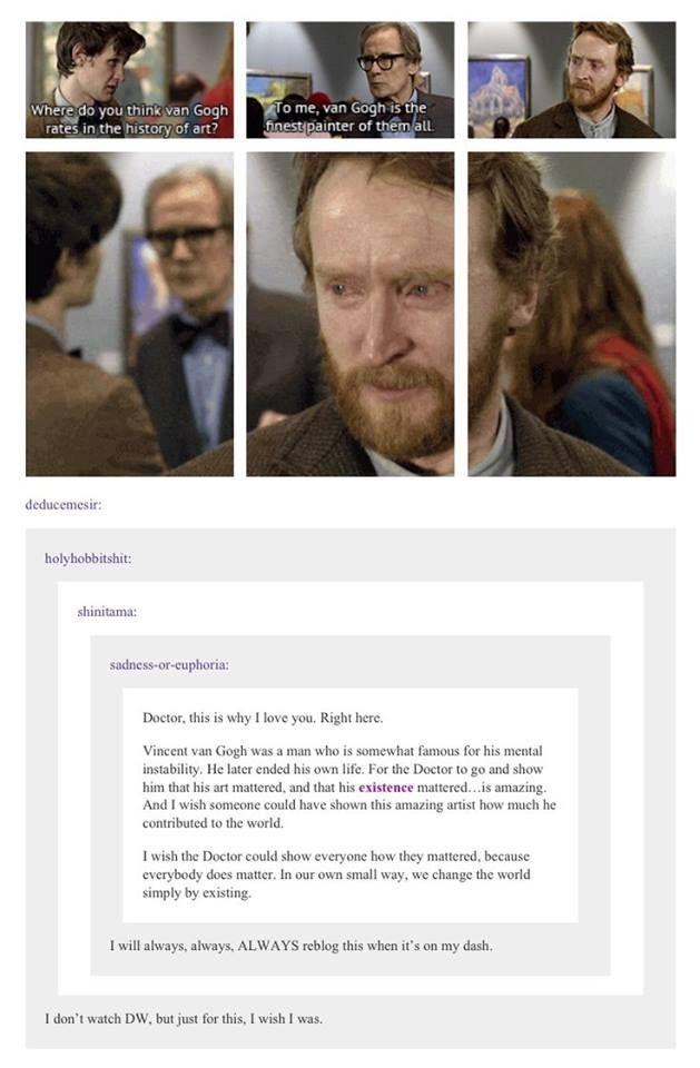 Vincent Van Gogh.  Doctor Who