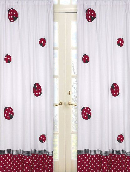 Curtains Jojo Designs Sweet Jojo Designs Red And White Curtains