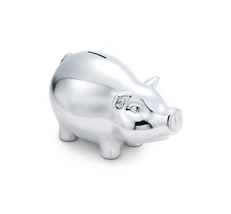 Tiffany Amp Co Item Piggy Bank In Sterling Silver