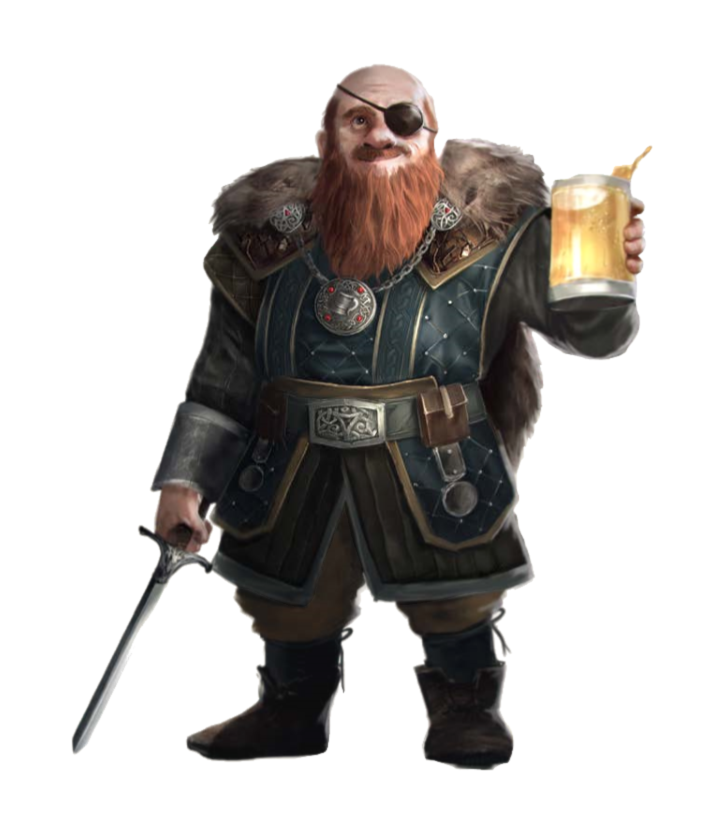 Male Dwarf Cleric of Cayden Cailean - Pathfinder PFRPG DND D&D 3 5