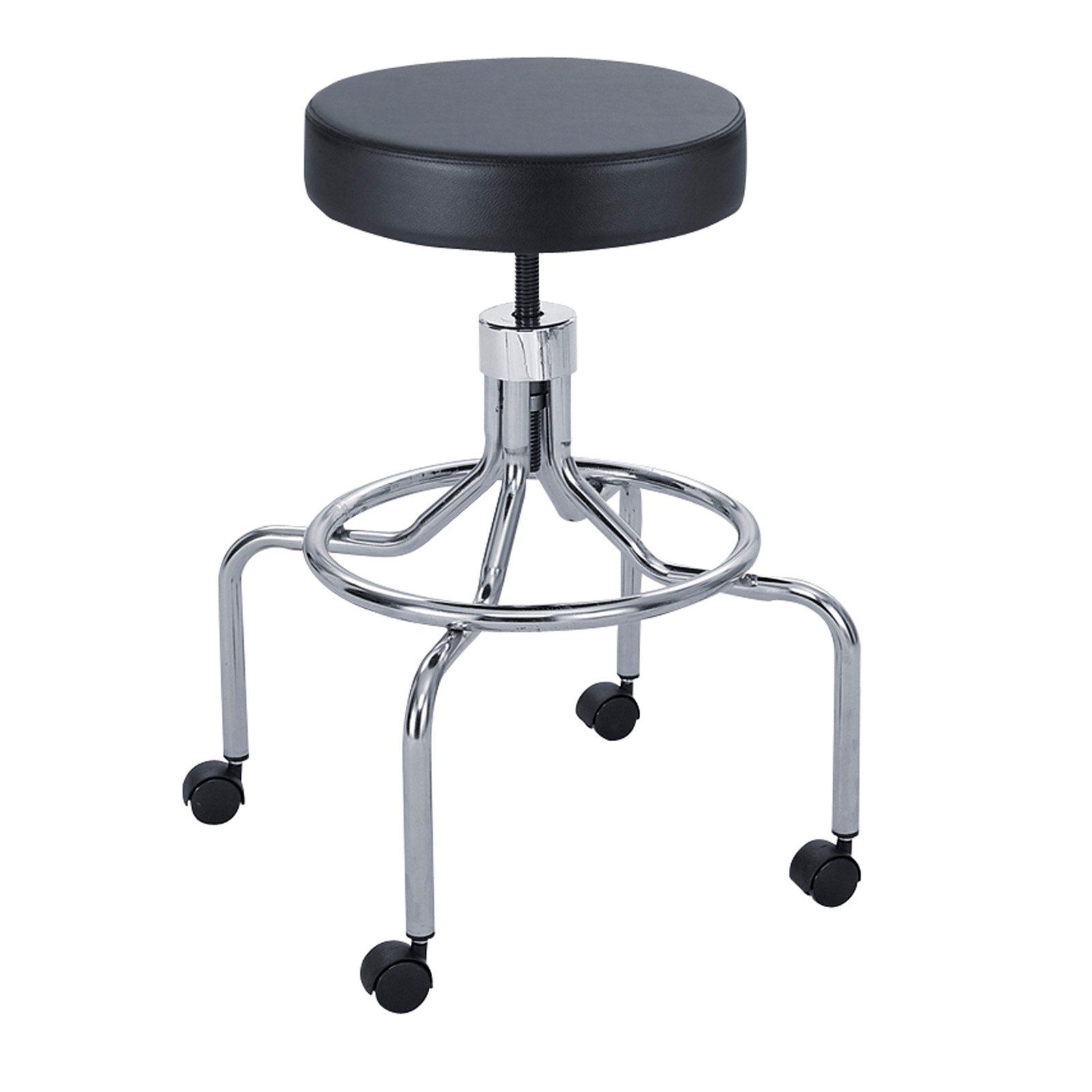 Safco Screw Lift Lab Stool With High Base - 3433BL