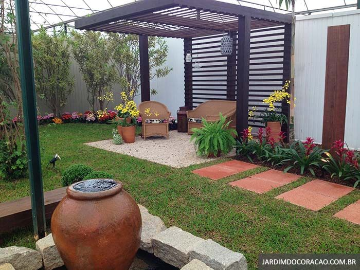 Pinterest niazesantos jardim rea de lazer - Pergolas para jardines pequenos ...