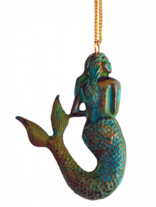 """""""Mermaid"""" Patina Necklace by Couture By Lolita"""