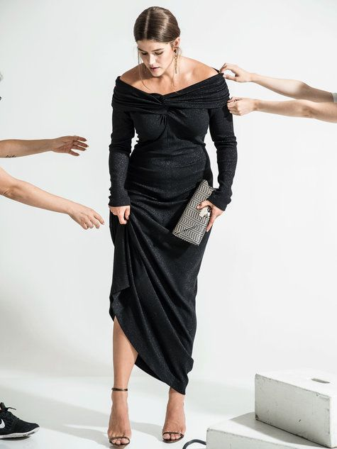 fc2271a26601 Off the Shoulder Gown (Plus Size) 12/2016 #128B – Sewing Patterns |  BurdaStyle.com