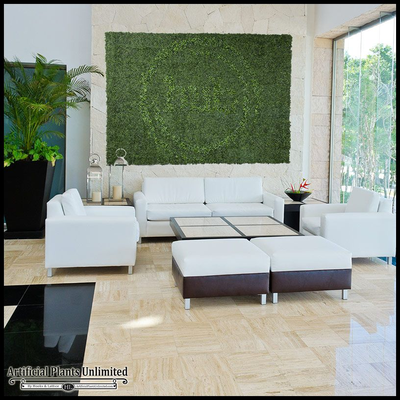 Fake Living Walls With Logos | Artificial Plants Unlimited