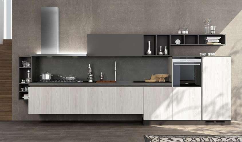 Cucine Moderne Con Basi Sospese.Mobili Sospesi In Cucina Nel 2019 Interni Della Cucina