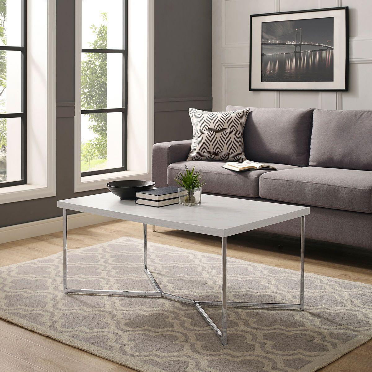 Chrome Faux Marble Y Leg Coffee Table Pier 1 Imports Coffee Table Round Wood Coffee Table Faux Marble Coffee Table [ 1200 x 1200 Pixel ]