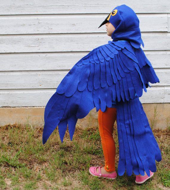 child custom made costume blue macaw parrot costume jungle animal halloween school play zoo on. Black Bedroom Furniture Sets. Home Design Ideas