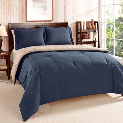 Tommy Hilfiger Solid Navy Comforter Set Mens Bedding Sets Comforter Sets Navy Comforter Sets