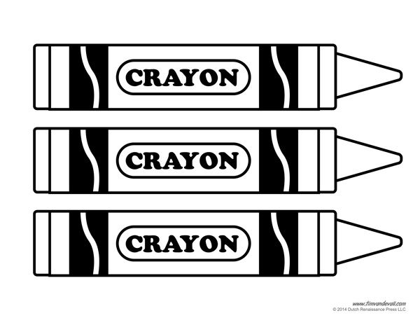 crayon template printables for teachers to use in the classroom
