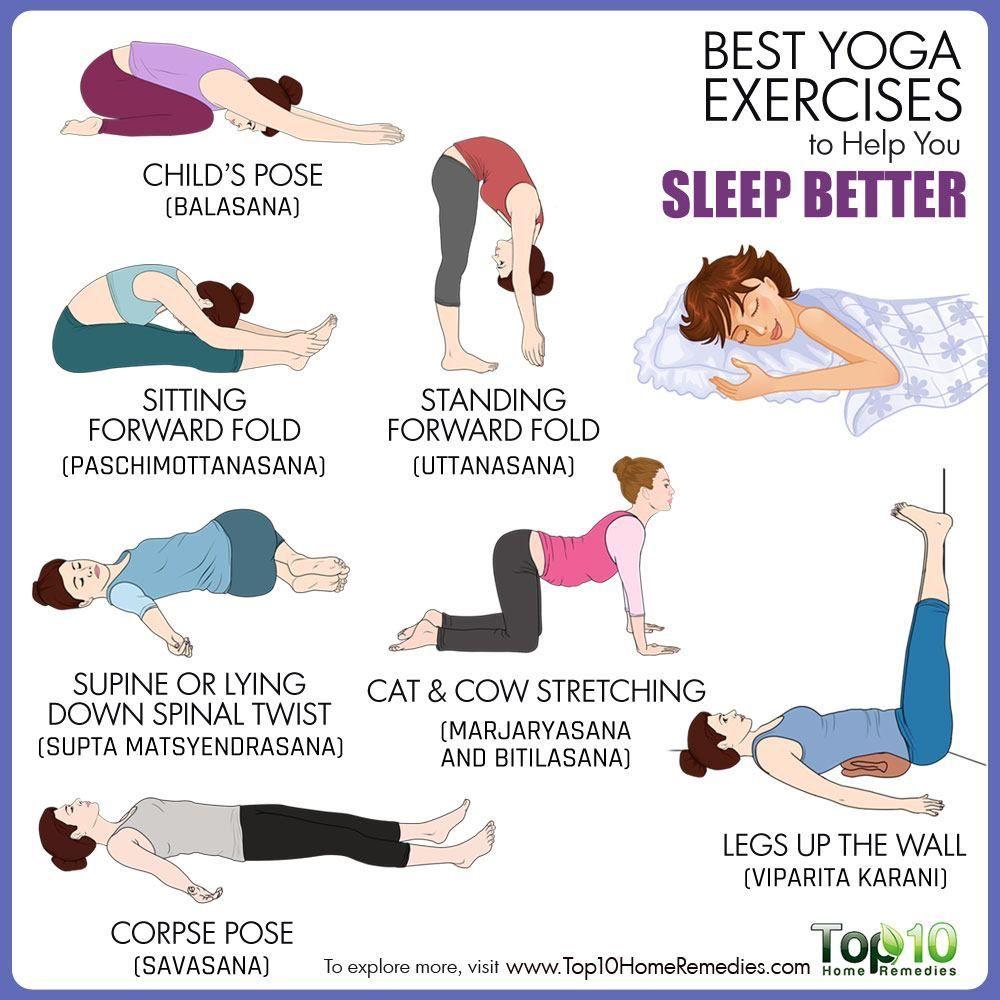 Yoga for Sleep 50 Poses to Help You Fall Asleep Better   Basic ...