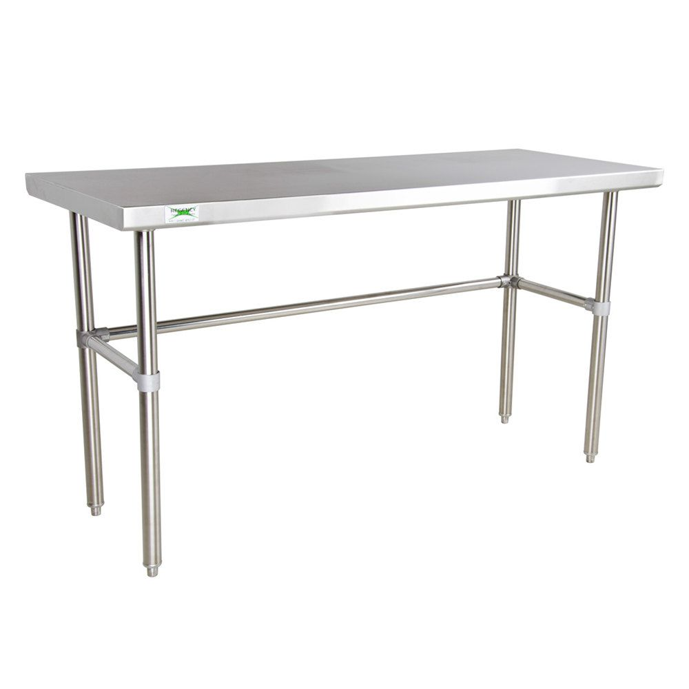 Regency 24 X 72 16 Gauge 304 Stainless Steel Commercial Open Base Work Table Stainless Steel Work Table Stainless Steel Table Work Table